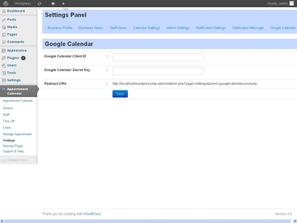 Google Calendar Sync- Appointzilla Appointment Booking
