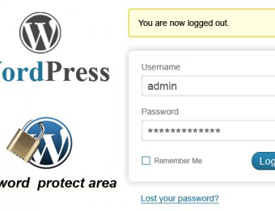 How to create a password protected area in WordPress