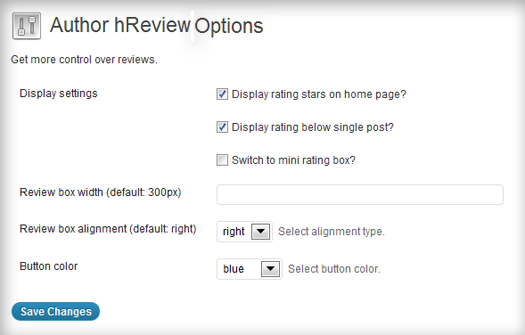 Authir H review Setting Page