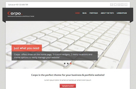 Best 5 free responsive WordPress themes for your business website ...