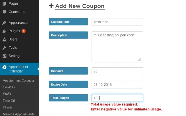 A small update: Appointzilla now Supports Coupon Codes