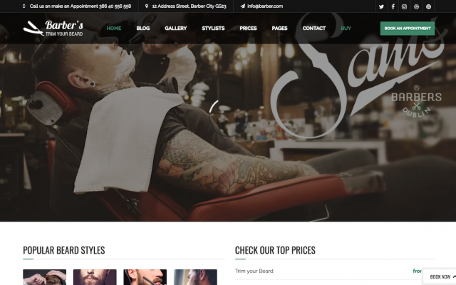 20 Best WordPress themes for Hair Salons
